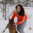 Teen girl with dog - Photo