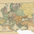 Old map of Europe — Lizenzfreies Foto