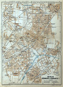 Berlin old map — Stock Photo