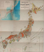 Old map of Japan — Stock fotografie