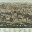 Old plan of Jerusalem - Stock Photo