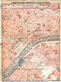 Paris eski harita — Stok fotoğraf
