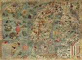 Vecchia mappa — Foto Stock