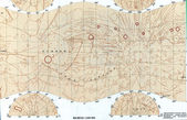 Vecchia mappa sovietico phobos. — Foto Stock