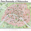 Paris old map — Stock Photo