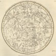 Astronomical chart - Foto Stock