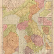Korea old map — Stock Photo #21470021