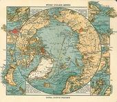 Mapa antiguo del ártico — Foto de Stock