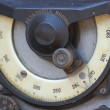 Old Soviet military radio close up. WWII time. — Stock Photo