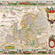 Stock Photo: Europe old map