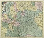 Russia old map — Stockfoto