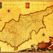 Cyprus old map — Foto de Stock