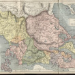 Balkans old map — Stock Photo