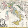 Italy old map — Stock Photo