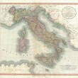 Italy old map — Foto de Stock