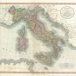 Italy old map — Stockfoto