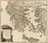 Balkans old map — Stock Photo