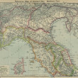 Stock Photo: Italy old map
