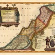 Holy Land old map — Stock Photo