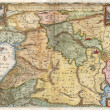 Holy Land old map — Foto Stock