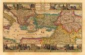 Holy Land old map — Stock Photo