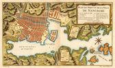 Nagasaki old map. Japan — Stock Photo
