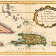 Caribean map — Foto Stock