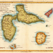 Caribean map - Stock Photo