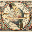 Astronomical chart — Stockfoto