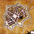 Medieval city map — Stock Photo