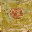 Medieval city map - Foto de Stock