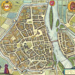 Stock Photo: Medieval city map