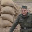 WWII reenactmant.German — Stockfoto