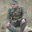 WWII reenactmant.German — Foto Stock