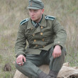 WWII reenactmant.German — Stock Photo