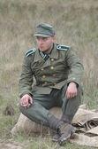Tweede wereldoorlog reenactmant.german — Stockfoto