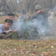 WWII reenactment.Soviet — Stock Photo