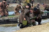 WWII reenactmebt — Stock Photo