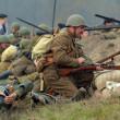 WWII reenactment — Stock Photo