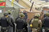 Kids-soldiers of Ukrainian opposition — Stock Photo