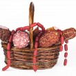 Stock Photo: Salami Products