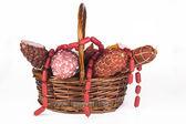Produtos de salame — Fotografia Stock