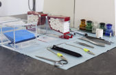 Tandläkare handverktyg — Stockfoto