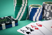 Aces and Chips — Stock Photo