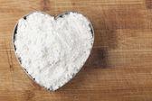面粉的心 — 图库照片