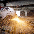 Stock Photo: Cutting Metal