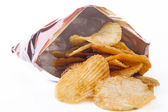 Chips from Bag — Stock Photo