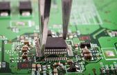 Microchip Mounting — Stock Photo