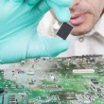 Verifying Microchip — Stock Photo