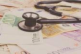 Euron och stetoskop — Stockfoto